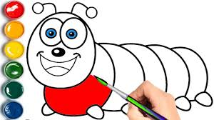 caterpillar coloring pages learn colors children