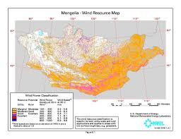 Mongolia Map Renewable Energy Resources Library Index Global Energy