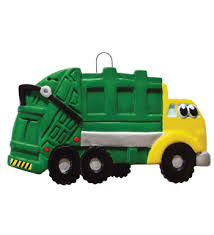 garbage truck personalized ornament