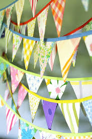 colorful bunting banner vintage fabric flag garland baby