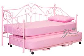 bed frames for girls new joseph metal day bed with trundle pink for girls guest bed