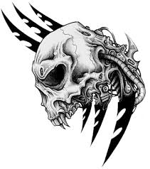 tribal skull tattoos free png photo images and clipart