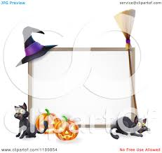 halloween frame cartoon of a halloween frame with a witch hat broom pumpkins and