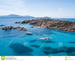 Beach Transparent by Aerial View Of A Boat In Front Of The Mortorio Island In Sardinia
