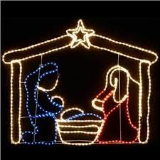 Christmas Rope Light Outdoor by Christmas Nativity Scene Outdoor Rope Light Silhouette