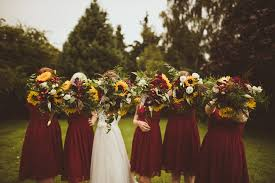 Sunflower Wedding Bouquet Sunflower Wedding Bouquet Wes Anderson Fantastic Mr Fox Theme