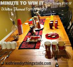 our minute to win it with a new year winter theme