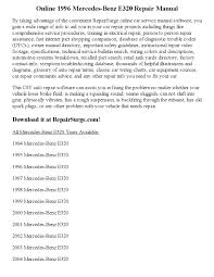 1996 mercedes benz e320 repair manual online by joseph lewis issuu