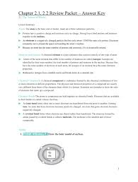 chapter 2 1 2 2 review packet u2013 answer key