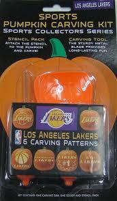 pumpkin carving kits nba los angeles lakers pumpkin carving kit 301438