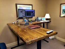 l shaped standing desk uplift standing desk marvelous one of our customers outfitted an