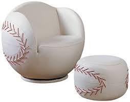 baseball chair and ottoman set amazon com acme 05528 2 piece all star set chair and ottoman