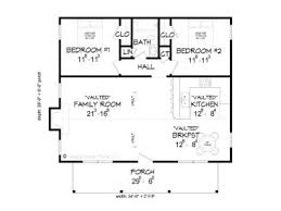 2 bedroom cabin plans cabin plans 2 bedroom hunting cabin plan 062h 0002 at
