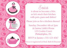 Kitchen Tea Invites Ideas by Kitchen Party Invitation Cards Samples Bridal Shower Invites With