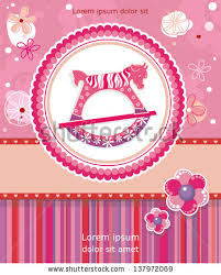 birthday invitation greetings elegance kid birthday invitation greetings card stock vector