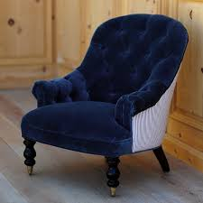 Navy Blue Tufted Sofa by Dining Room Tufted Vanity Chair Navy Blue Velvet Chair Tufted
