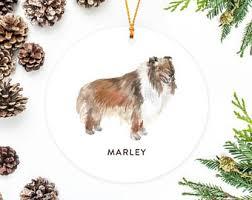 australian shepherd ornament collie ornament etsy
