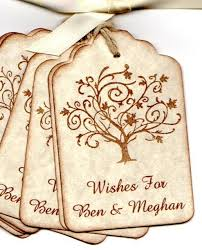50 custom personalized wedding wish tags wedding favor tags