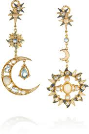 percossi papi earrings percossi papi gold plated topaz moonstone and sapphire
