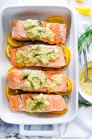 dill mustard poached salmon with mustard dill sauce foodiecrush