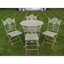 interesting shabby chic bistro table and chairs with stunning