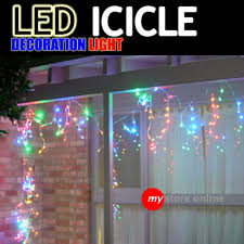 my store festival decoration and lighting icicle