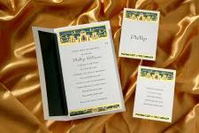 birchcraft bar mitzvah invitations birchcraft bar bat mitzvah nb229 beautiful gold foil accents the