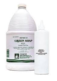 green soap skin cleaner