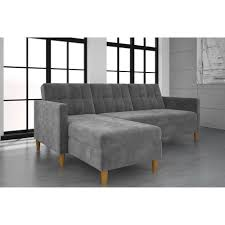 stigall futon storage reversible sleeper sectional apartment