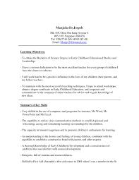 Resume Sample Format Singapore by Curriculum Vitae Nursing Curriculum Vitae Template Internship
