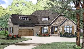split bedroom home plan with angled garage 60617nd