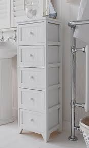 Bathroom Drawer Storage by Portland Narrow White Bathroom Storage With 3 Drawers A Three
