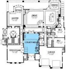 interior courtyard house plans center courtyard house plans with 2831 square this is one