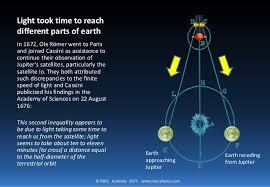 Speedof Light Speed Of Light 3 Of 4 Measured By Romer