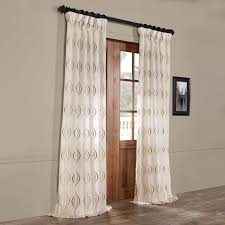 trellis sheer rod pocket single curtain panel