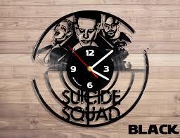 squad vinyl record wall clock joker vinyl clock harley