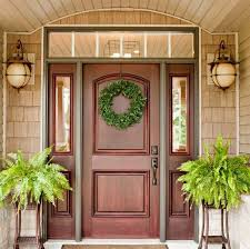 Wood Exterior Door Doors Amusing Solid Wood Entry Door Excellent Intended For