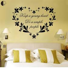 simple wall designs simple design keep a young heart wall stickers removable decal art