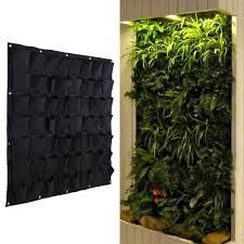 Wall Mounted Planters by 56 Pocket Outdoor Vertical Greening Hanging Wall Garden Plant Bags