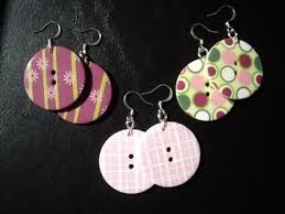 diy button earrings 25 best earrings images on earring holders 30th