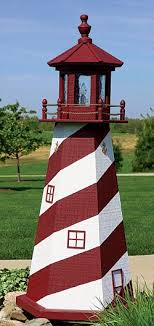 amish wooden lighthouses lawn garden yard lighthouses poly