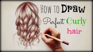 drawing tutorial how to draw and color perfect curly hair youtube