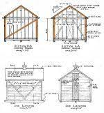 Diy Wood Shed Design by 12x14 Shed Plans Gable Garage Pinterest Building Plans