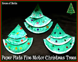 house of burke paper plate fine motor christmas trees
