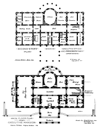 houses layouts floor plans residence white house museum