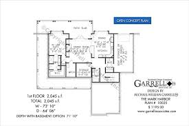 house plans with floor plans mark harbor house plan house plans by garrell associates inc
