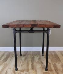 butcher block kitchen table the kitchen table reclaimed wood butcher block pub dining