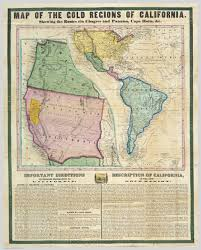 Mexico Map 1800 Gold Rush Map Guided Prospectors Headed To California