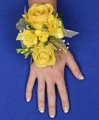glowing yellow prom corsage in kernersville nc s florist