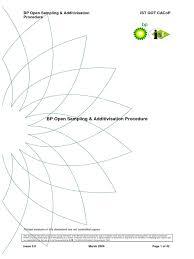 bp open sampling v3 bp personal protective equipment